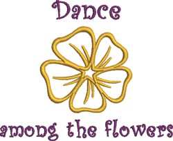 Dance Among Flowers embroidery design