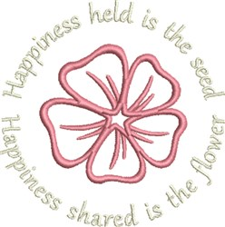 Happiness Shared embroidery design