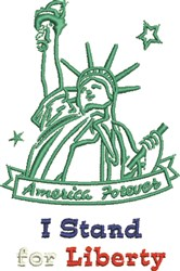 For Liberty embroidery design
