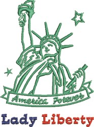 Lady Liberty embroidery design