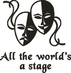 Worlds A Stage embroidery design