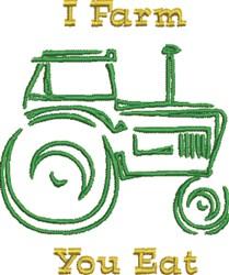 Farm Eat embroidery design