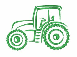 Tractor Truck embroidery design