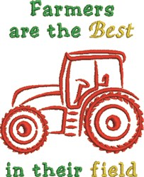 Tractor Field embroidery design