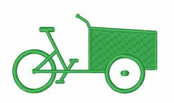 Rickshaw Bycicle embroidery design
