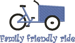 Friendly Ride embroidery design
