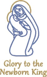 Newborn King embroidery design