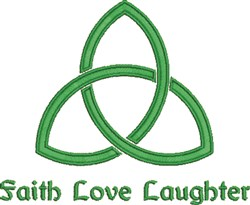 Faith Love Laughter embroidery design