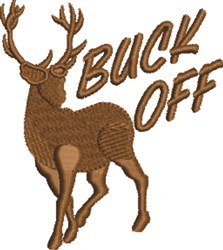 Buck Off embroidery design
