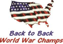 USA World War Champs embroidery design