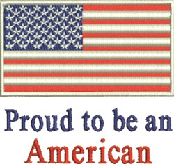 Proud To Be American embroidery design
