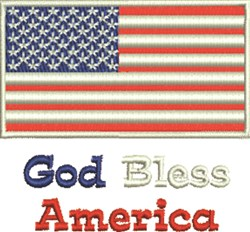 God Bless America Flag embroidery design