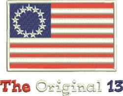The Original 13 embroidery design