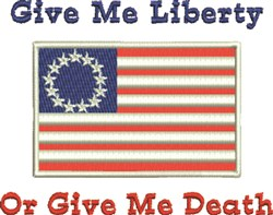 Give Me Liberty embroidery design