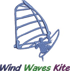 Wind Waves Kite embroidery design