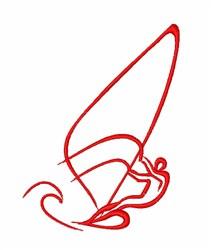 Windsurfing Man embroidery design