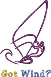 Got Wind embroidery design
