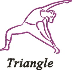 Traingle Pose embroidery design