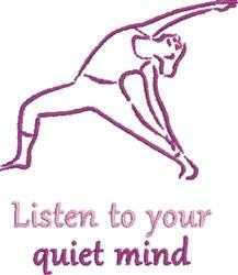 Quiet Mind embroidery design