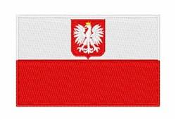 Poland National Flag embroidery design