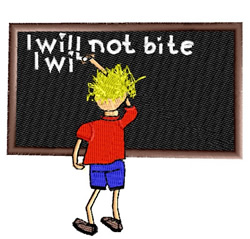 School Detention embroidery design