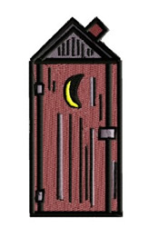 Outhouse embroidery design