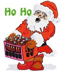 Santa with Sodas embroidery design
