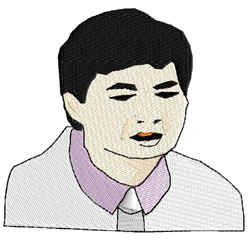 Asian Man embroidery design