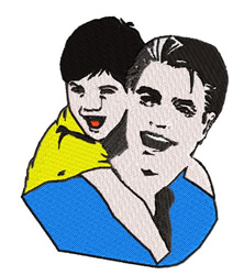 Father and Son embroidery design