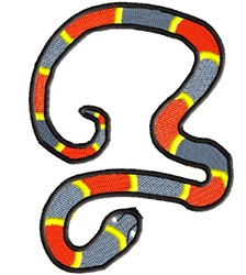 Coral Snake embroidery design