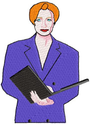 Businesswoman embroidery design
