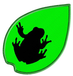 Frog on a Leaf embroidery design
