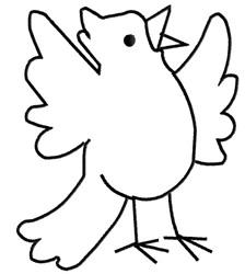 Birdie embroidery design