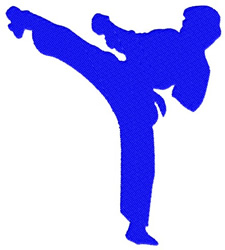 Karate embroidery design