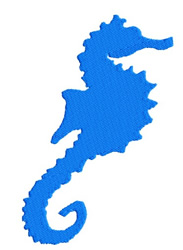 Seahorse embroidery design
