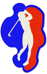 Golfing Girl embroidery design