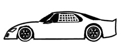 Racecar embroidery design