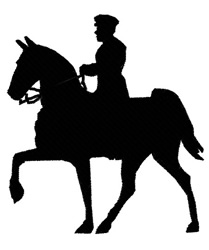 Horserider embroidery design