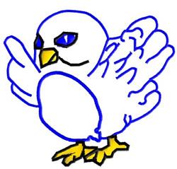 Tweet Bluebird embroidery design