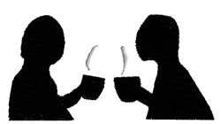 Drinking Coffee embroidery design