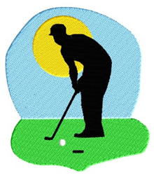 Golfer embroidery design