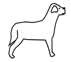 Dog Outline embroidery design