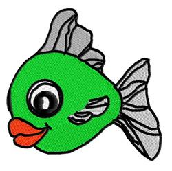 Fishy embroidery design