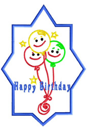 Happy Birthday Balloon embroidery design
