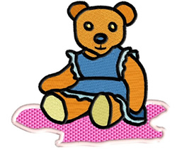 Girl Teddy embroidery design
