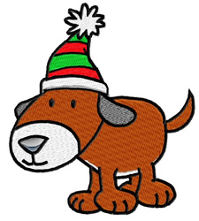 Xmas Pup embroidery design