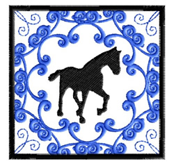Horse Tile embroidery design