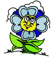 Flower Face embroidery design