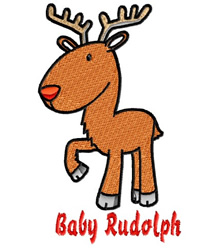 Baby Rudolph embroidery design