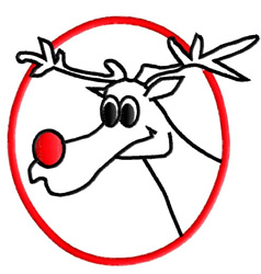 Rudolph Outline embroidery design